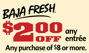 Baja Fresh 2 off 8 Coupon