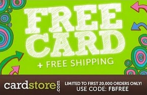 Cardstore FREE Card Shipping