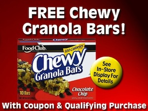 Cash Wise FREE Granola Bars