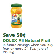 Dole Fruit Coupon