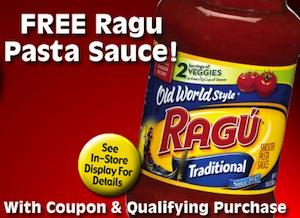 FREE Ragu Pasta Sauce