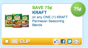 Kraft Parmesan Seasoning Blends Couopn
