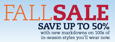 Lands End Fall Sale