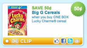 Lucky Charms Cereal Printable Coupon