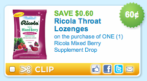 Ricola Mixed Berry Coupon