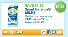 Smart Balance Milk Printable Coupon