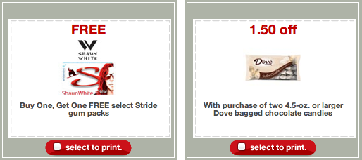 Target Coupons Stride Dove