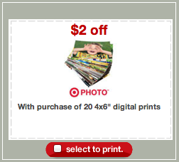 Target Photo Prints Coupon