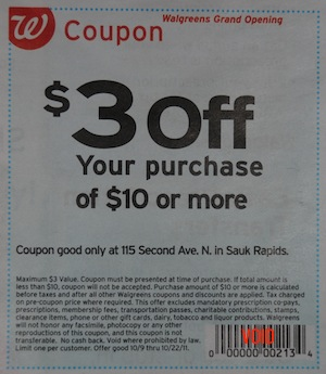 Walgreens 3 off 10 Coupon