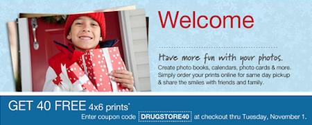Walgreens 40 FREE Prints