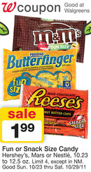 Walgreens Snack Size Candy Deal