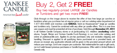 Yankee Candle B2G2 Coupon