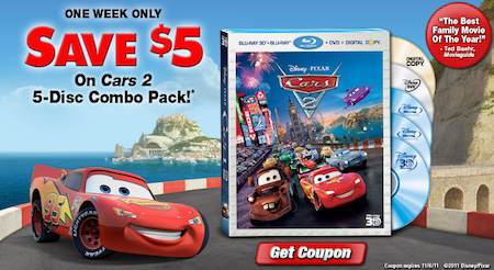 Cars 2 coupon