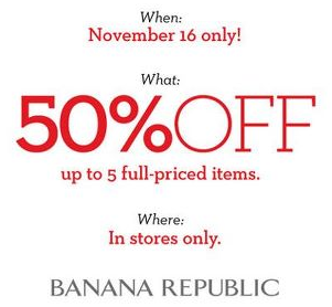 Banana Republic 50 off 5 Items
