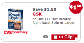 Breathe Right CVS Coupon