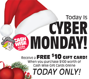 Cash Wise Cyber Monday