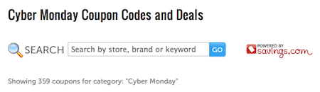 Cyber Monday Codes