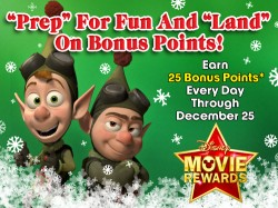Disney Movie Rewards: 25 Days of Points Starts December 1