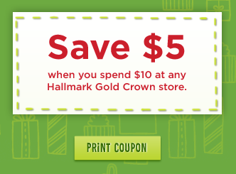 Hallmark 5 off 10 Coupon