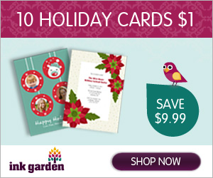 InkGarden Holiday Photo Card Deals