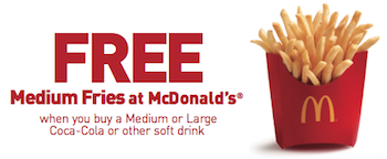 McDonalds FREE Fries