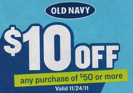Old Navy Black Friday 2011 Coupon