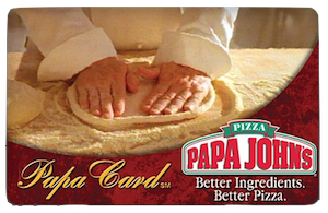 OnSale: $10 Papa John's Gift Card for $5