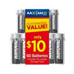 Home Depot: 60 Rayovac Batteries $9.97