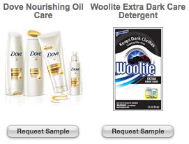 Target Dove Woolite Samples