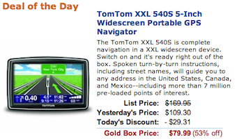 TomTom GPS Gold Box Deal