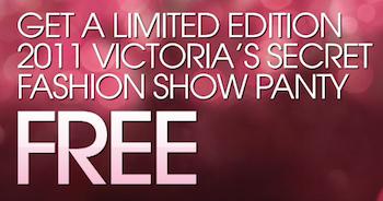 Victorias Secret FREE Panty