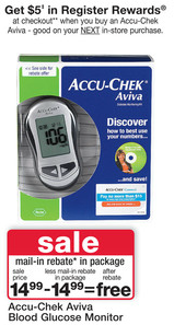 Walgreens Aviva Blood Glucose Monitor Moneymaker