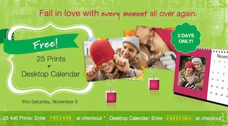 Walgreens FREE Prints Desktop Calendar