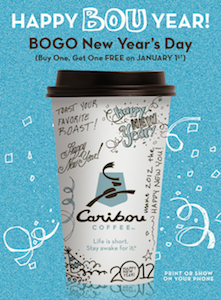 Caribou Coffee Happy Bou Year