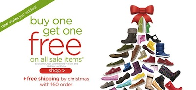 Crocs BOGO Sale items
