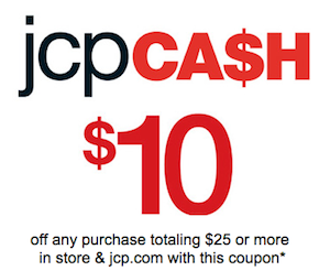 JCPenney: $10 off $25 Coupon