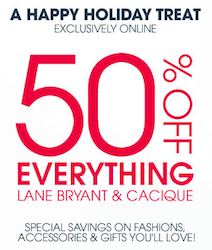 Lane Bryant: 50% off Coupon Code!