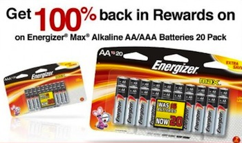 Office Depot FREE Energizer Batteries