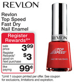 Revlon Top Speed RR Deal