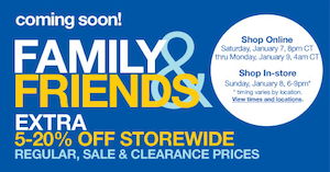 Sears Family Friends Sale