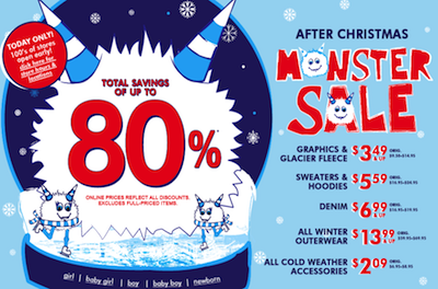The Childrens Place Monster Sale