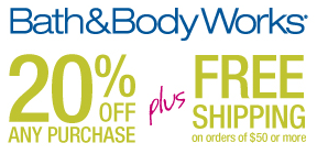 Bath Body Works 20 Off