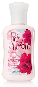 Bath Body Works Pink Chiffon Lotion