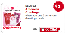 CVS American Greetings Coupon