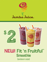 Jamba Juice Smoothie Coupon