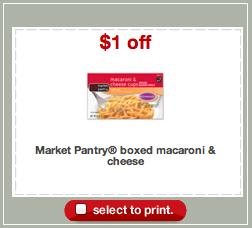 Market Pantry Mac Cheese Coupon