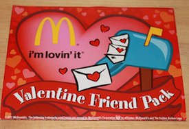 McDonalds Valentine Friend Pack