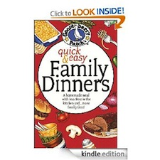 Quick Easy Family DInners Cookbook Kindle