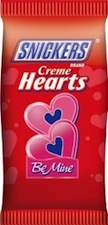 Snickers Creme Hearts