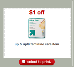 Up Up Feminine Care Coupon